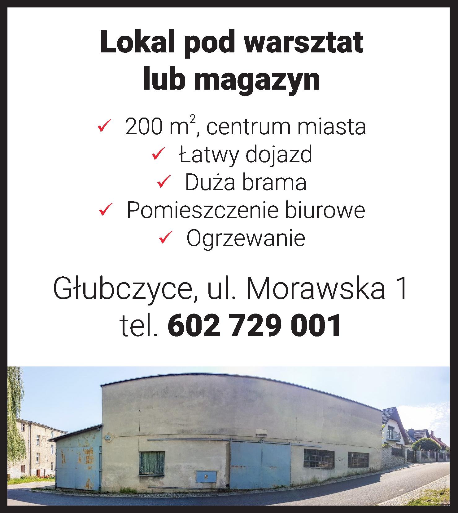 Głubczyce lokal